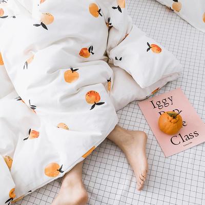 oneday 纯棉四件套全棉床上用品【有点甜】 1.2m(4英尺)床 有点甜