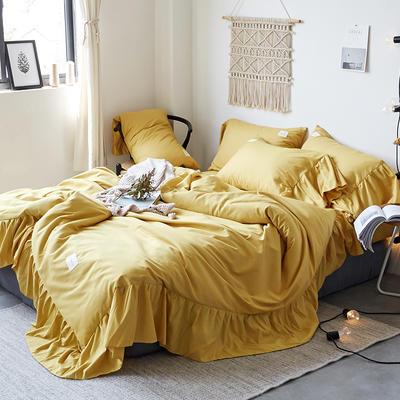 【总】oneday磨毛四件套美人鱼花边床上用品 1.2m(4英尺)床 暗香