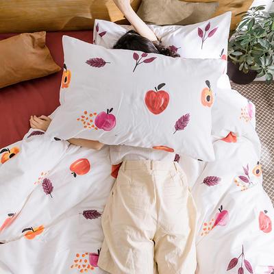 【总】oneday 纯棉四件套全棉床上用品 1.2m(4英尺)床 乌龙红了
