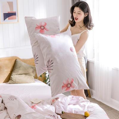 oneday 纯棉四件套全棉床上用品【一朵粉色】 1.2m(4英尺)床 一朵粉色