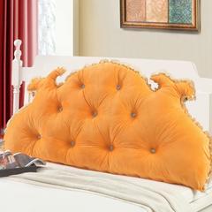韩版可脱卸大靠垫 1.2米(两排纽扣) 橘黄