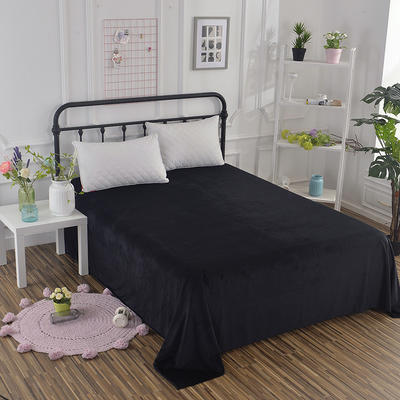 水晶绒 单床单 1.8*230 黑色