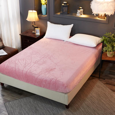 2018新款水晶绒纯色保暖床单 180*230cm 豆沙