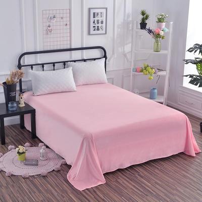 2018新款水晶绒纯色保暖床单 180*230cm 粉色