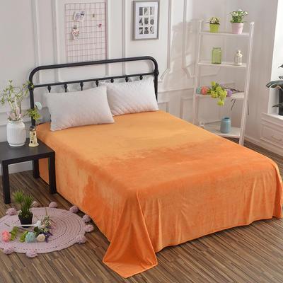 2018新款水晶绒纯色保暖床单 180*230cm 桔黄