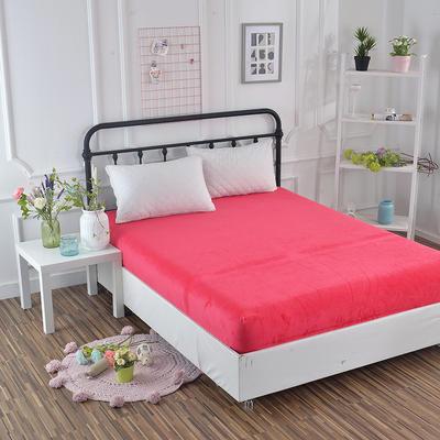 2018新款水晶绒纯色保暖床单 180*230cm 砖红