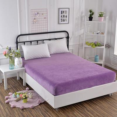 2018新款水晶绒纯色保暖床单 180*230cm 紫色