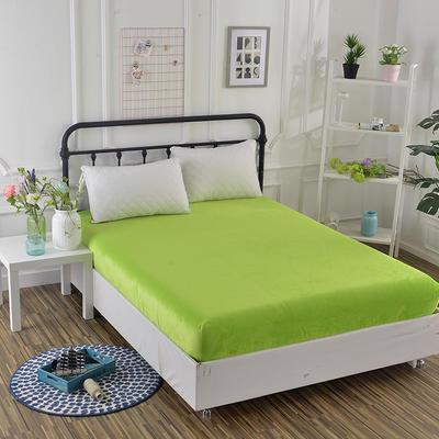 2018新款水晶绒纯色保暖床笠 0.9*2.0米*高25CM 果绿