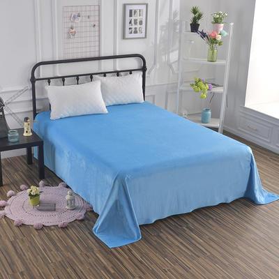 2018新款水晶绒纯色保暖床单 180*230cm 湖蓝