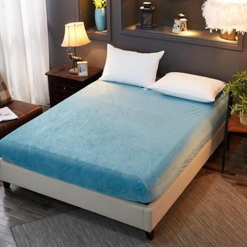 2018新款水晶绒纯色保暖床单