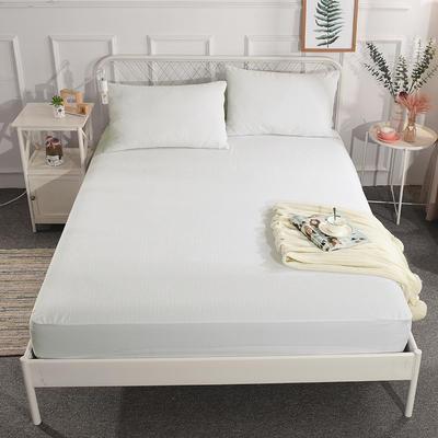 电商爆款国家专利纯棉防水床笠 床护垫 婴儿隔尿垫姨妈垫可定做床笠 200cmx220cm 条纹白