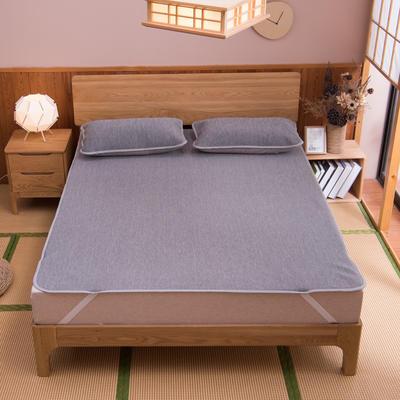 国家专利恒温冰丝凉席可水洗云母凉感空调席三件套床笠款床单款可定做尺寸软席 1.2*2米 彩云灰床单款