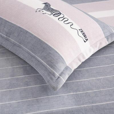 2019新款牛奶绒单枕套(48x74cm) 48cmX74cm 斑马(一只)