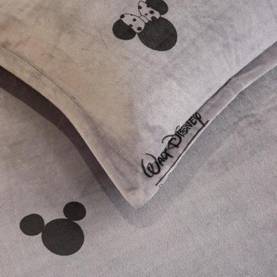 2019新款牛奶绒单枕套(48x74cm) 48cmX74cm 经典米奇(一只)