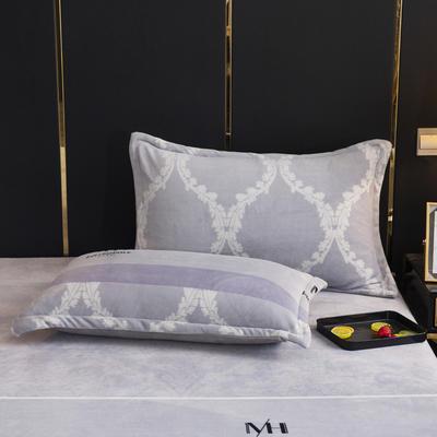 2019新款牛奶绒单枕套(48x74cm) 48cmX74cm 西域风情(一只)