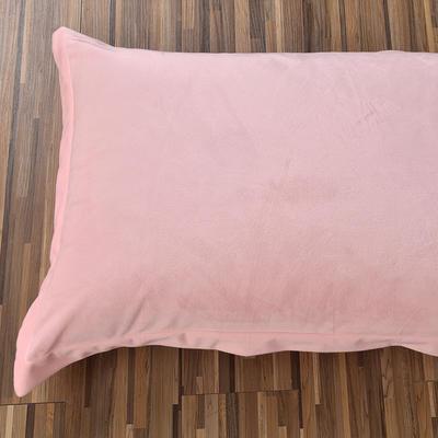 32019新款水晶绒纯色单枕套(48x74cm) 48cmX74cm 玉色(一只)