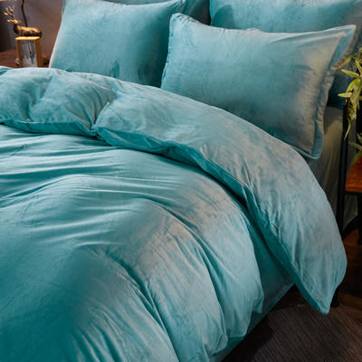 32019新款水晶绒纯色单枕套(48x74cm) 48cmX74cm 墨绿(一对)