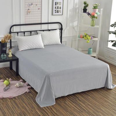 2019新款水晶绒纯色床单 床单180x245cm 银灰