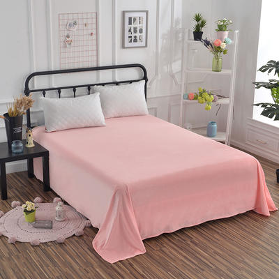 2019新款水晶绒纯色床单 床单180x245cm 玉色