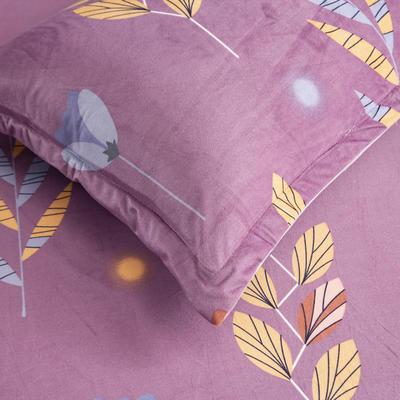 2019新款水晶绒印花单床单 床单180x245cm 麦穗