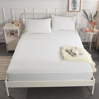 电商国家专利纯棉防水床笠三件套 床护垫 婴儿隔尿垫姨妈垫可定做 150cmx200cm床笠三件套 条纹白