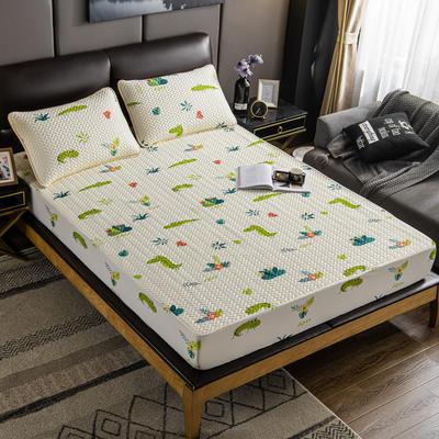 2020新款印花乳胶凉席 90x200cm(需定制) 床单款两件套 恐龙
