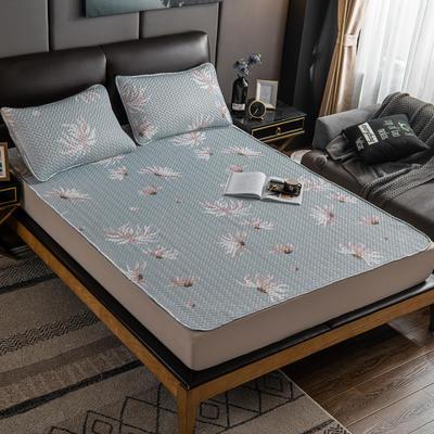 2020新款印花乳胶凉席 90x200cm(需定制) 床单款两件套 茉莉花