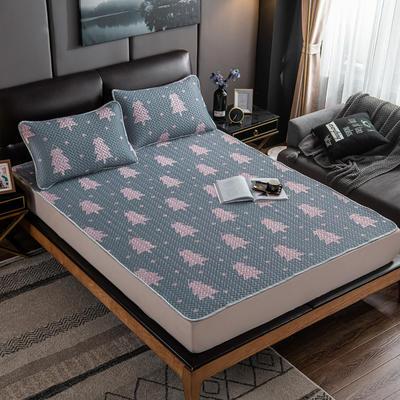 2020新款印花乳胶凉席 90x200cm(需定制) 床单款两件套 小树