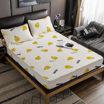 2020新款印花乳胶凉席 90x200cm(需定制) 床单款两件套 小鸭子