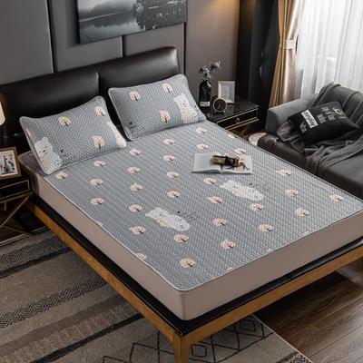 2020新款印花乳胶凉席 90x200cm(需定制) 床单款两件套 熊宝