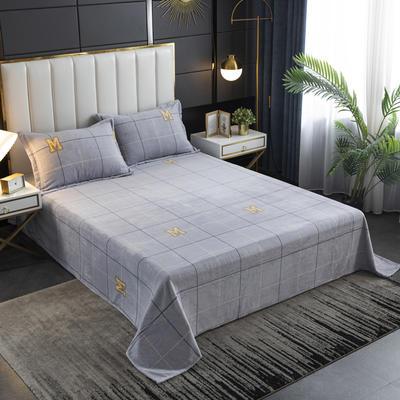 2020新款印花牛奶绒-单床单 床单245x250cm M先生