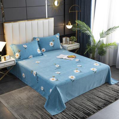 2020新款印花牛奶绒-单床单 床单245x250cm 雏菊之恋