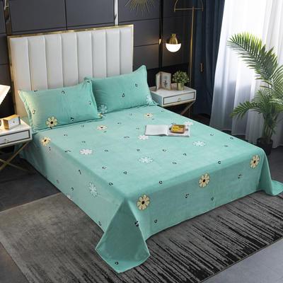 2020新款印花牛奶绒-单床单 床单245x250cm 芳甸