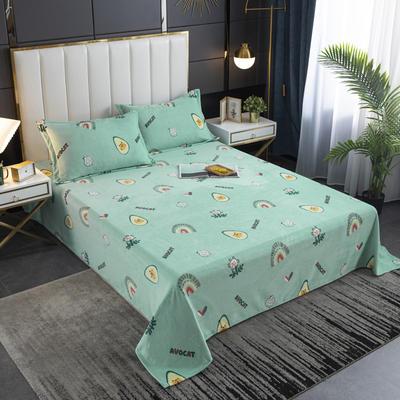 2020新款印花牛奶绒-单床单 床单200x245cm 憨态猫