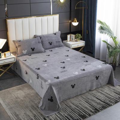 2020新款印花牛奶绒-单床单 床单245x250cm 经典米奇