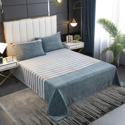 2020新款印花牛奶绒-单床单 床单200x245cm 木棉花
