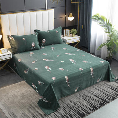 2020新款印花牛奶绒-单床单 床单245x250cm 柔情似水