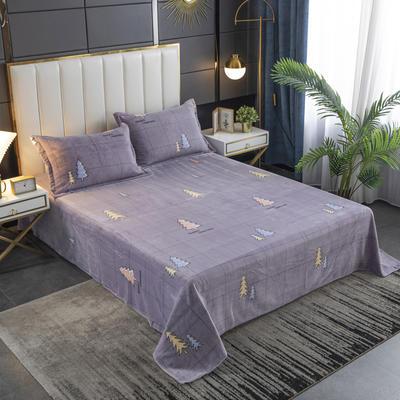 2020新款印花牛奶绒-单床单 床单245x250cm 森林密语
