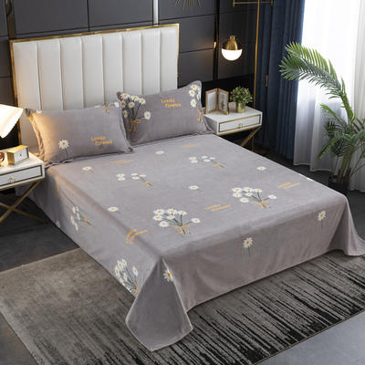 2020新款印花牛奶绒-单床单 床单245x250cm 小雏菊