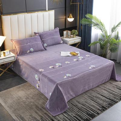 2020新款印花牛奶绒-单床单 床单245x250cm 小确幸