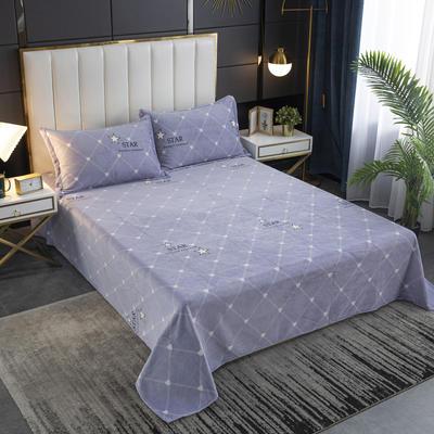 2020新款印花牛奶绒-单床单 床单245x250cm 星语