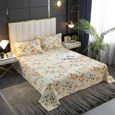 2020新款印花牛奶绒-单床单 床单200x245cm 泫雅小花