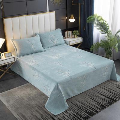 2020新款印花牛奶绒-单床单 床单245x250cm 长相依