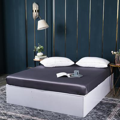2021新款100支长绒棉纯色系列(单床笠) 150cmx200cm+30cm 千黛紫