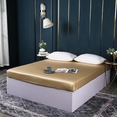 2021新款100支长绒棉纯色系列(单床笠) 150cmx200cm+30cm 香槟金