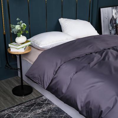 2021新款100支长绒棉纯色系列(单被套) 150x200cm 千黛紫