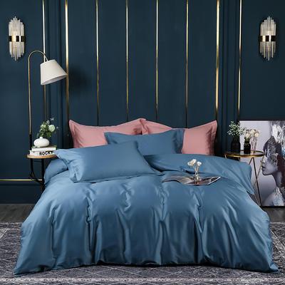 2021新款100支长绒棉纯色系列(床单款四件套) 1.5m床单款四件套 宾利蓝