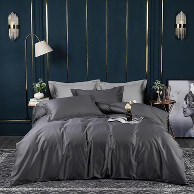 2021新款100支长绒棉纯色系列(床单款四件套) 1.5m床单款四件套 帝都灰