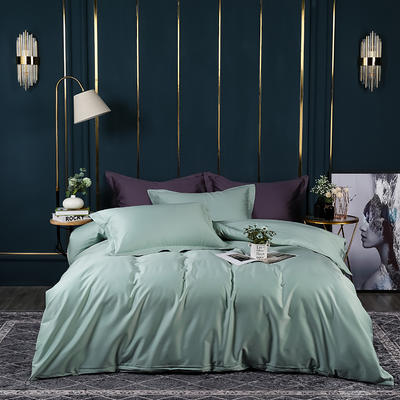 2021新款100支长绒棉纯色系列(床单款四件套) 1.5m床单款四件套 繁星蓝