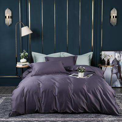 2021新款100支长绒棉纯色系列(床单款四件套) 1.5m床单款四件套 千黛紫